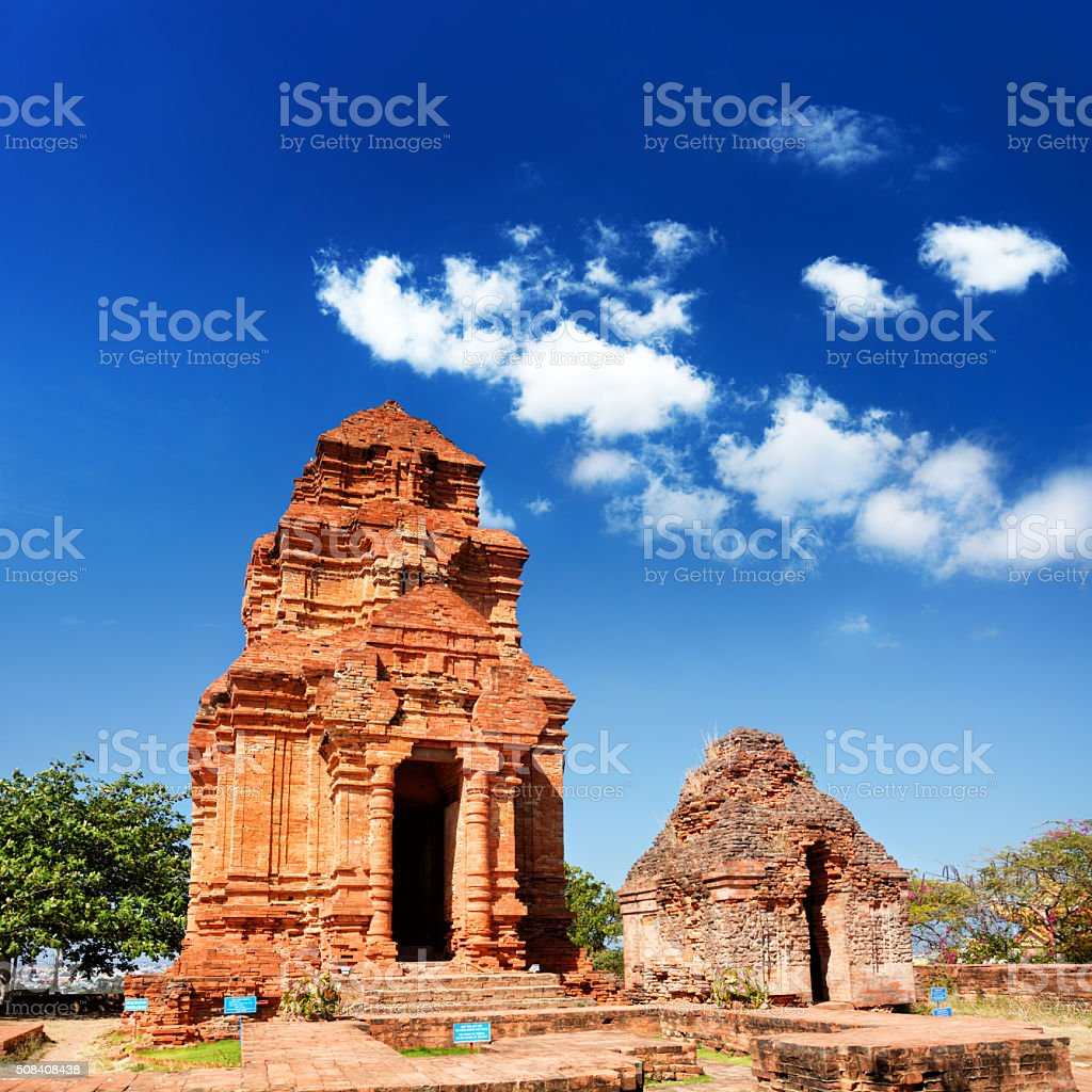 Thap Poshanu Cham Tower stock photo