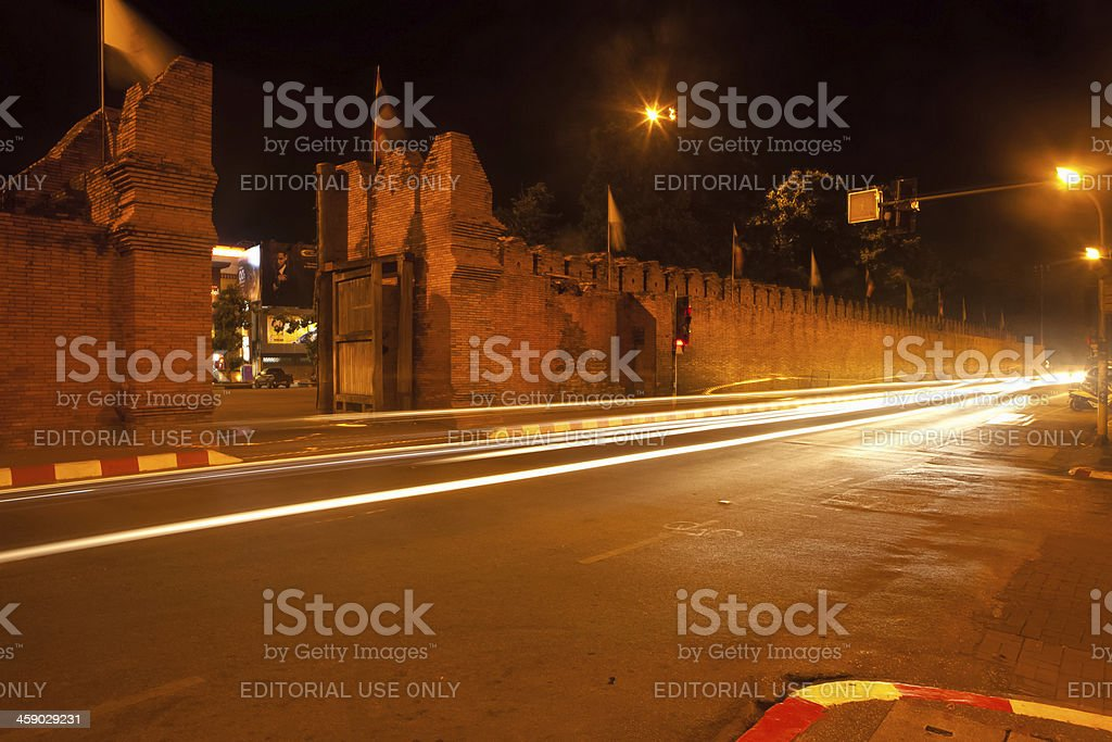 Thapae Gate, Chiang Mai, Thailand royalty-free stock photo