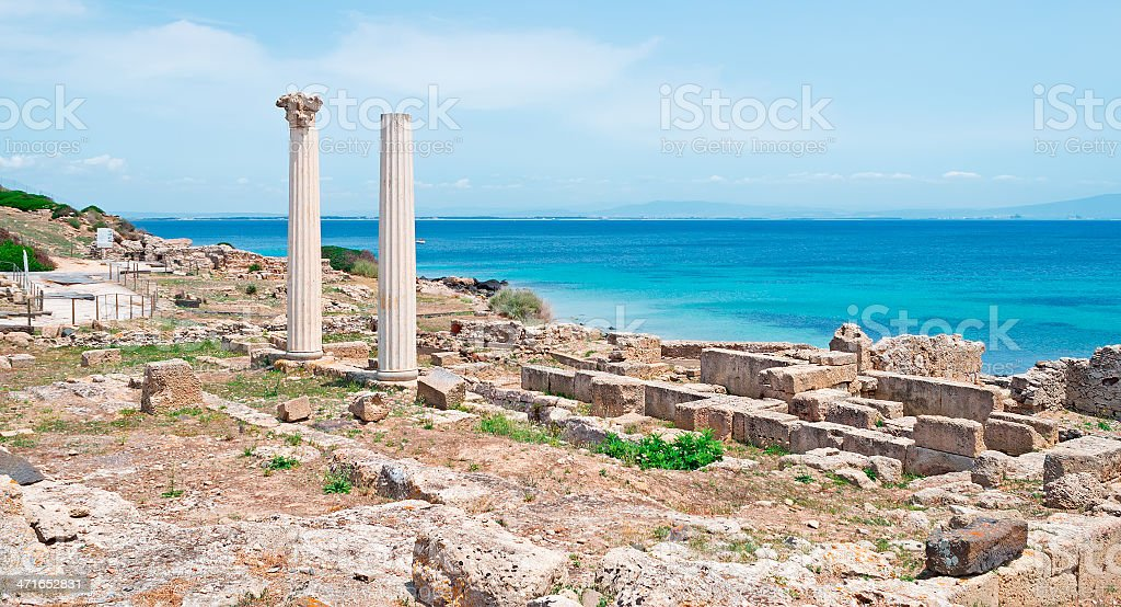 Tharros on a clear day royalty-free stock photo