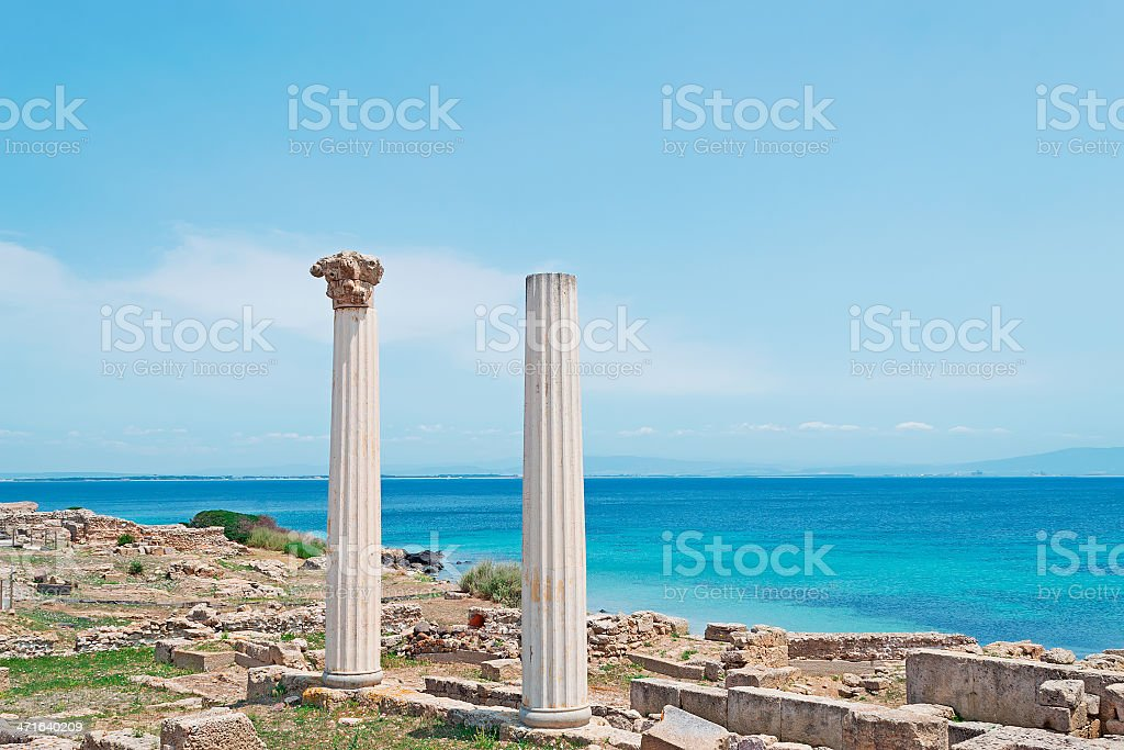 Tharros ruins royalty-free stock photo