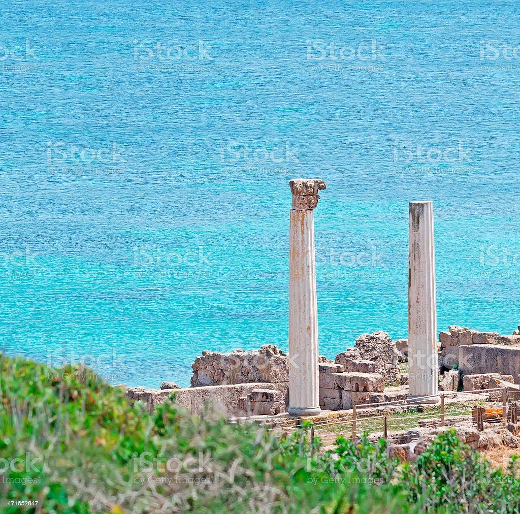 Tharros seascape royalty-free stock photo