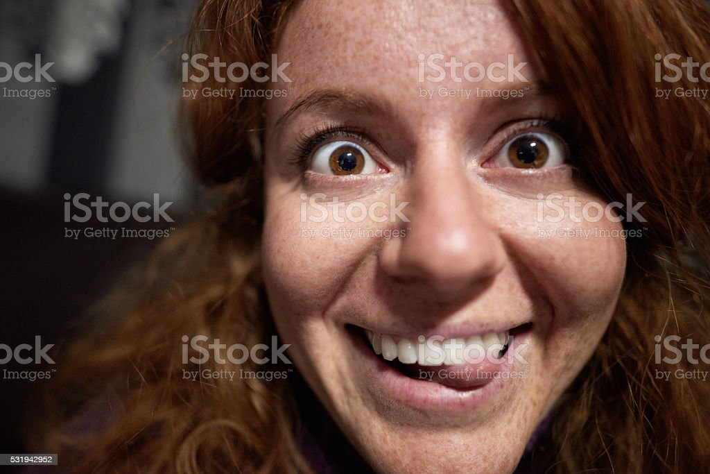 that crazy funny look stock photo