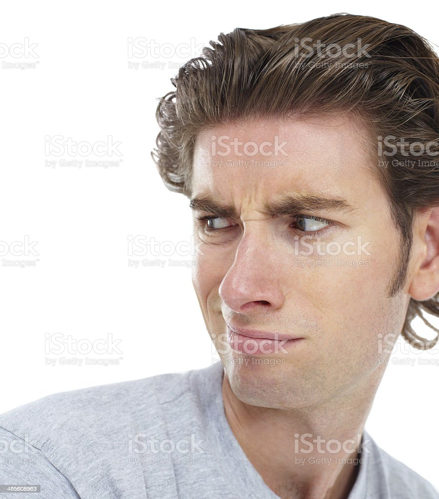 That doesn't impress him much! royalty-free stock photo
