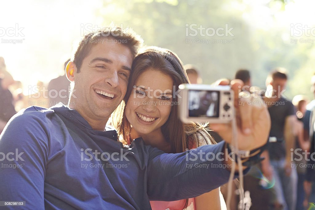 That festival feeling stock photo