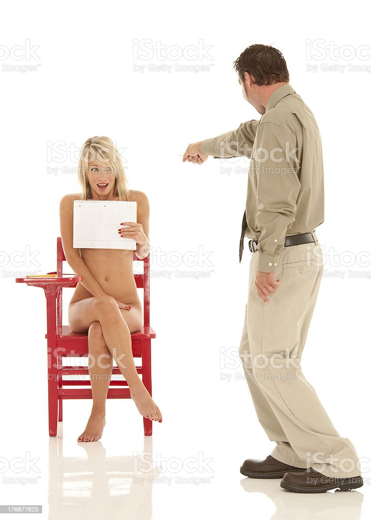 That Horrible Naked / Insecurity Dream! royalty-free stock photo