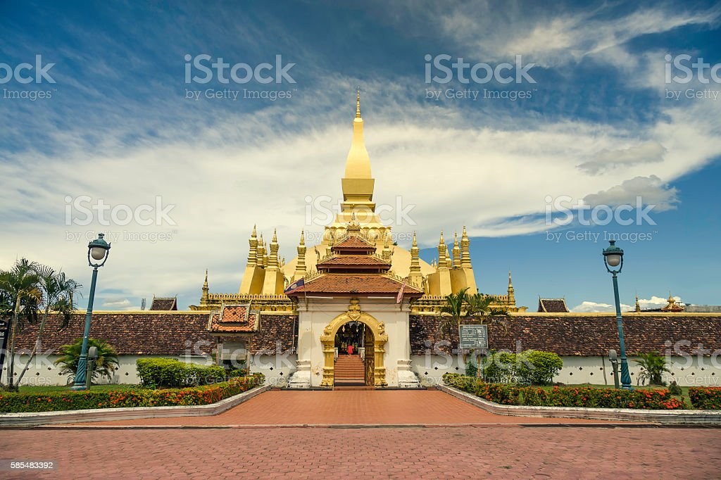 That Luang front gate stock photo