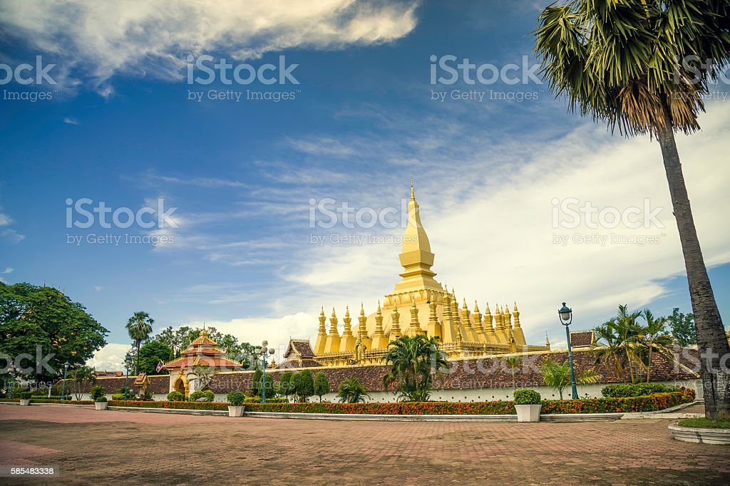 That Luang Stupa front gate stock photo