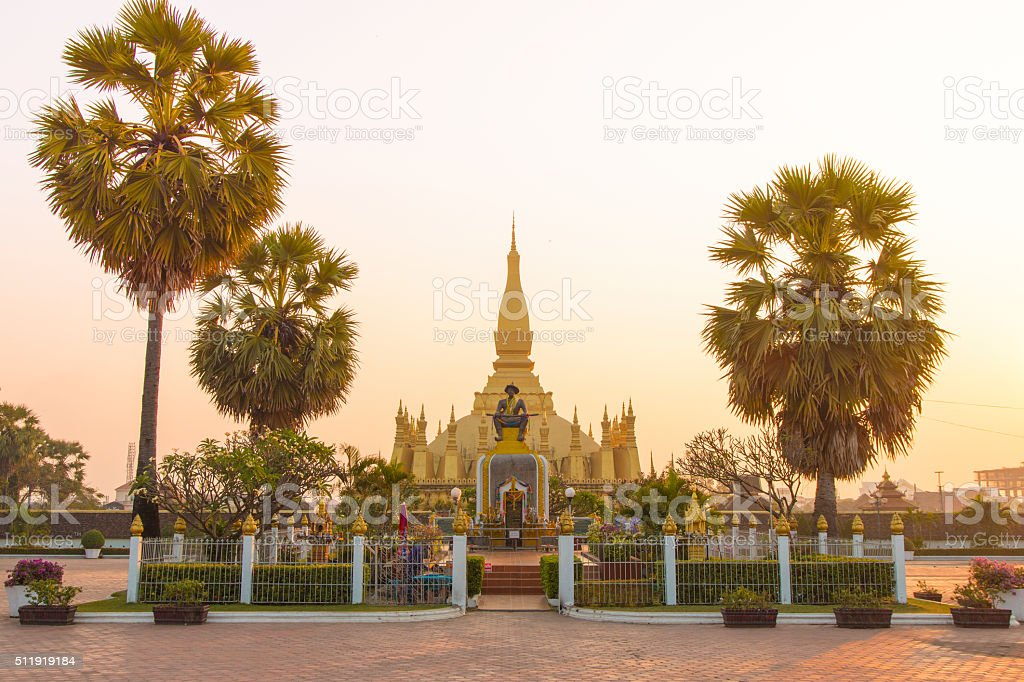 That Luang Vientiane stock photo