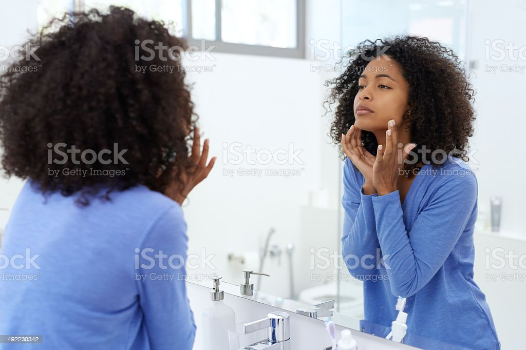 That moisturizer is really helping stock photo