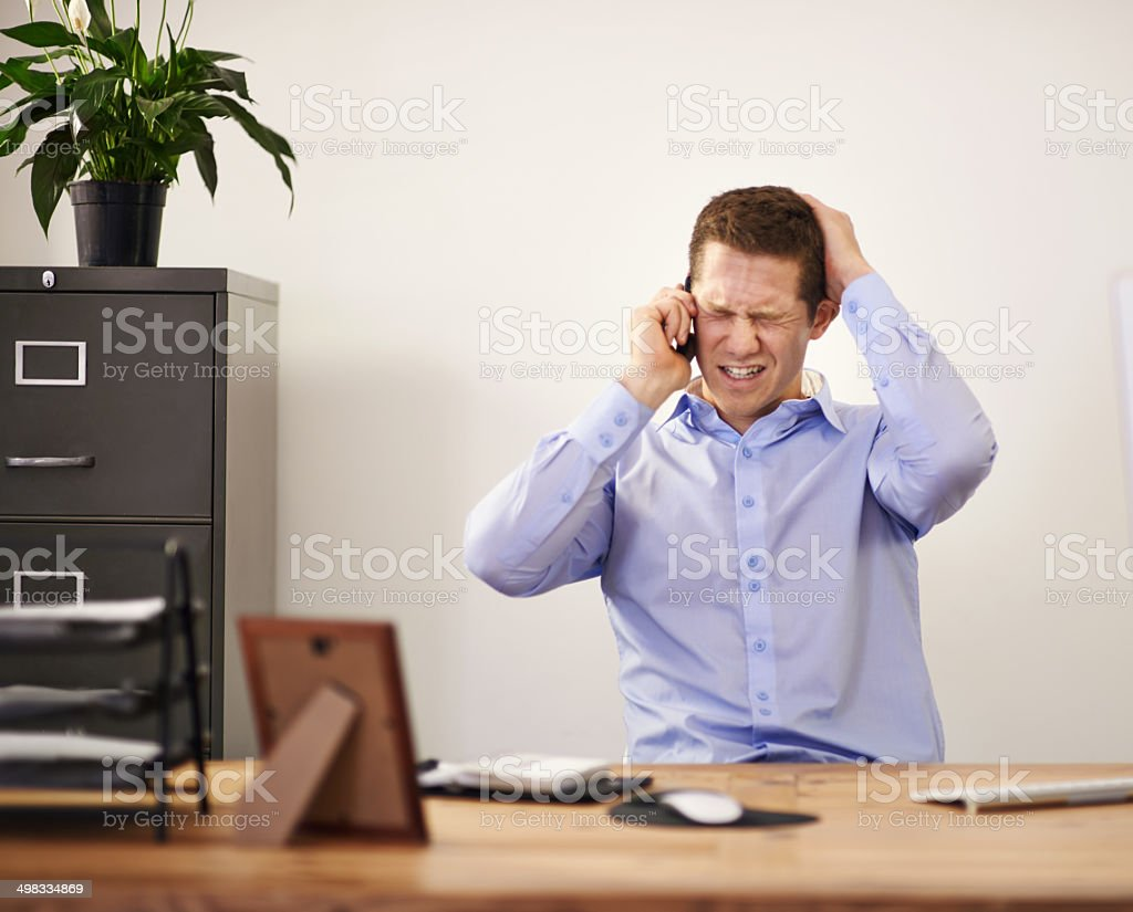That moment you recieve extremely bad news... stock photo