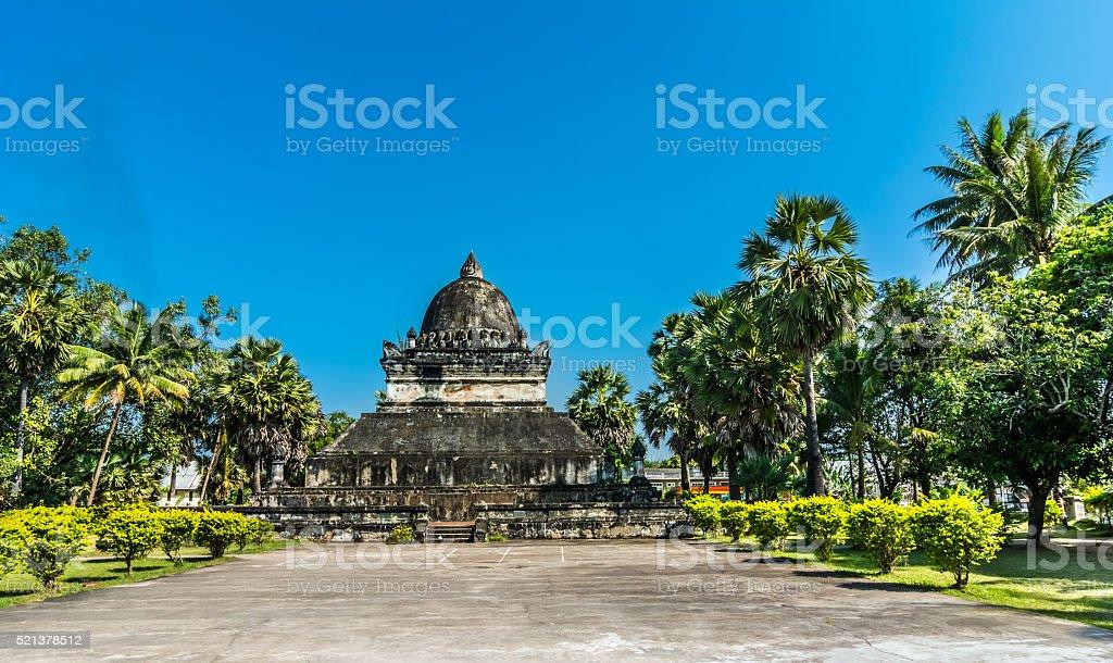 That Pathum-stupa at Wat Wisunalat, Laos stock photo