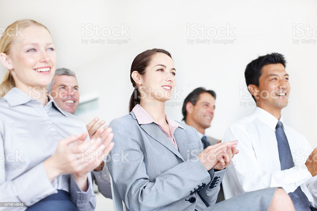 That presentation was excellent! royalty-free stock photo