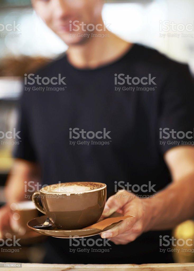 "That ""Wake-Me-Up"" aroma! royalty-free stock photo"