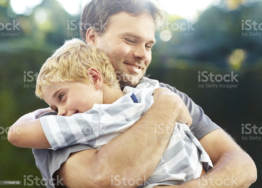 That special father and son bond... royalty-free stock photo