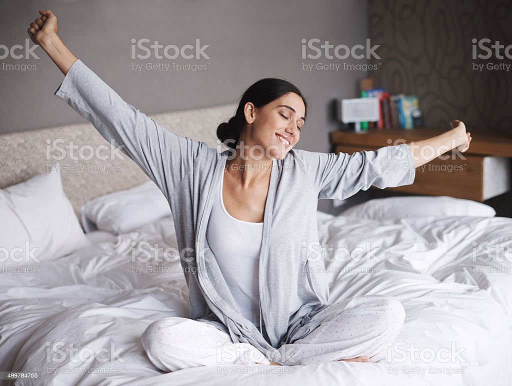 That was a much needed nap stock photo