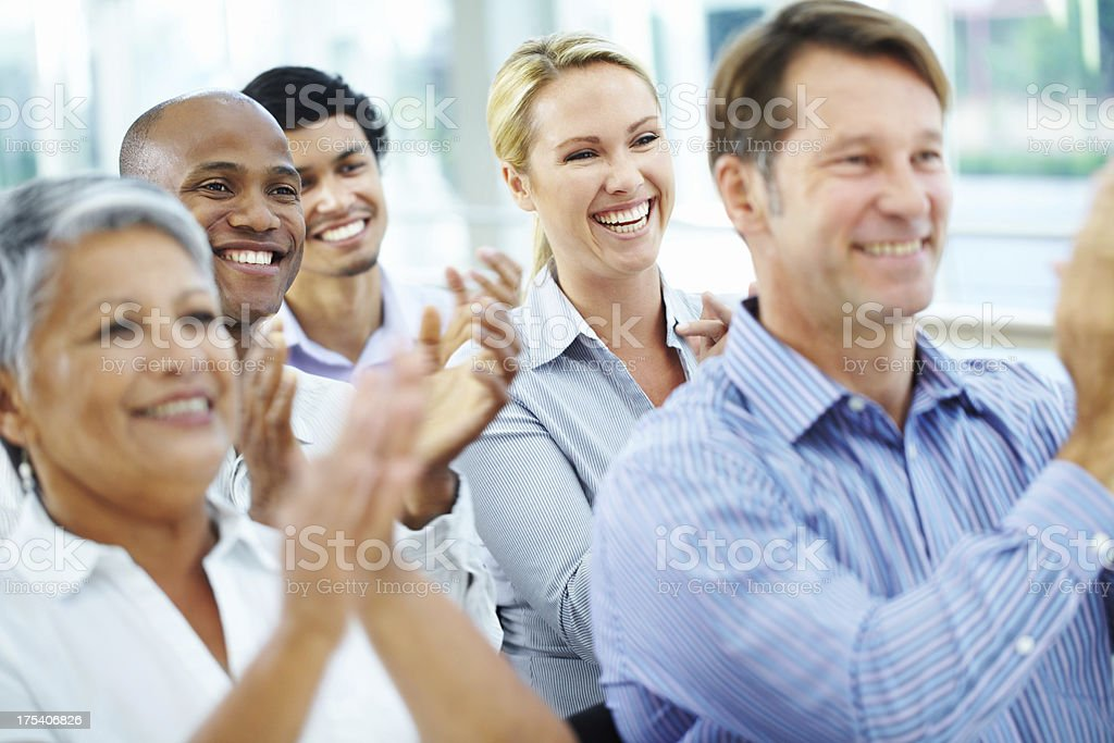 That was an excellent presentation! stock photo