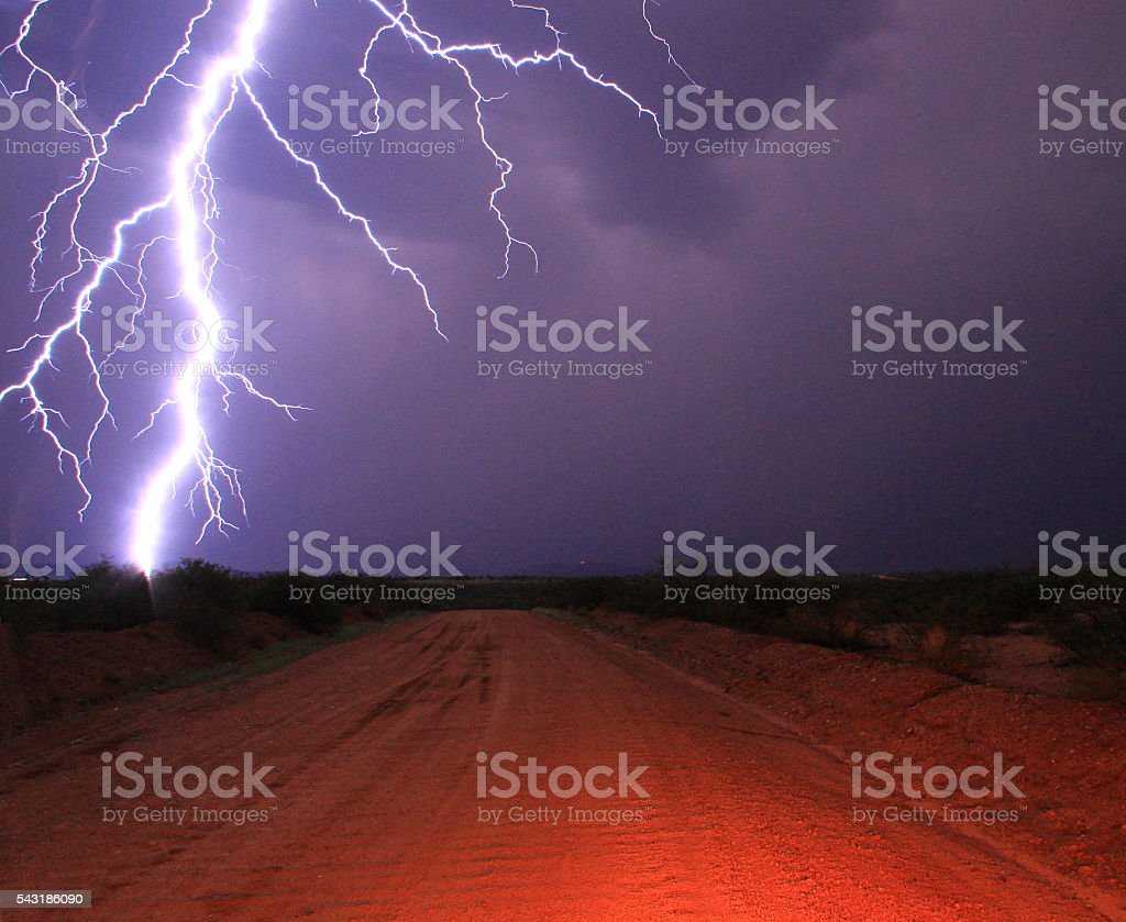 That was close - Lightning stock photo