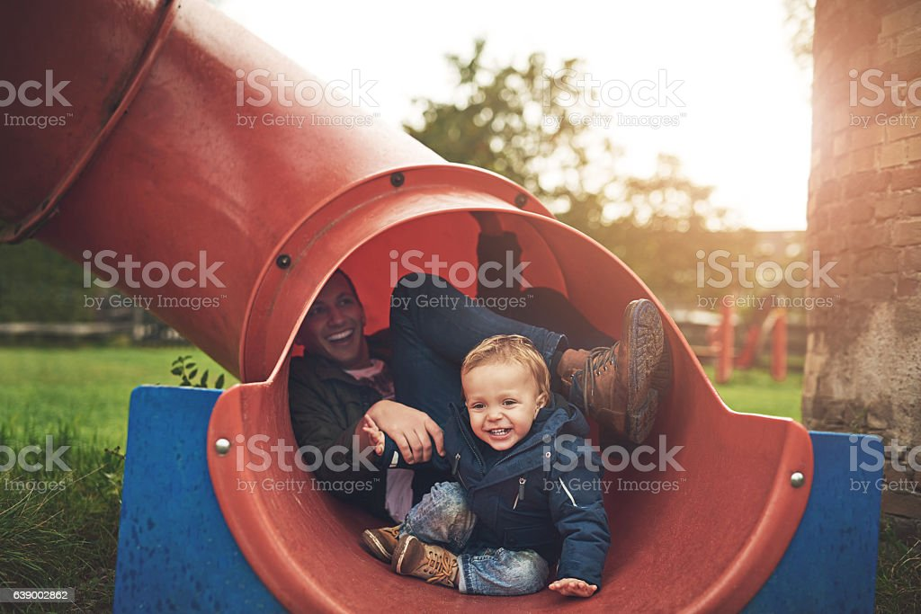 That was fun! Let's go again! stock photo