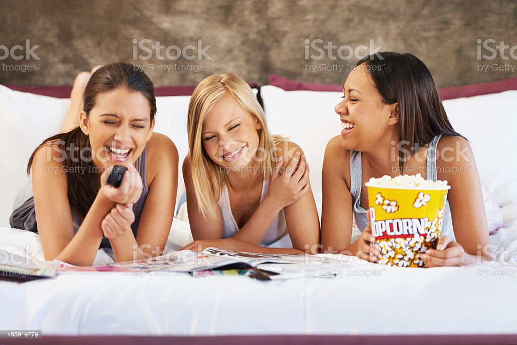 That was one hilarious movie! royalty-free stock photo