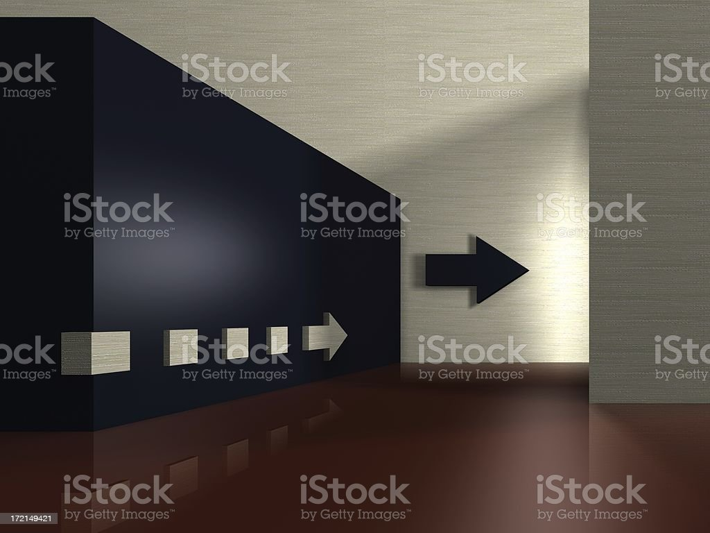 that way - render royalty-free stock photo