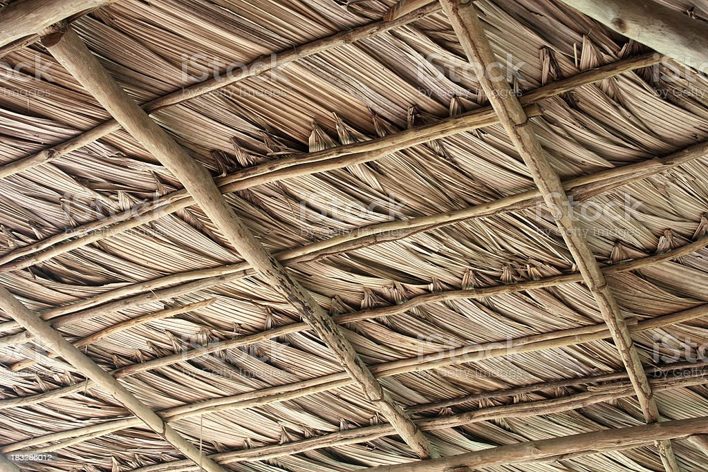 thatch straw roof background royalty-free stock photo