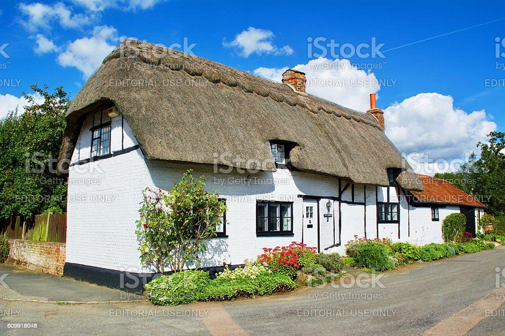 Thatched Cottage Buckinghamshire England stock photo