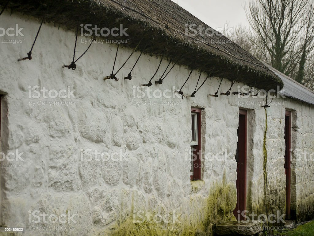 Thatched Cottage Detail stock photo