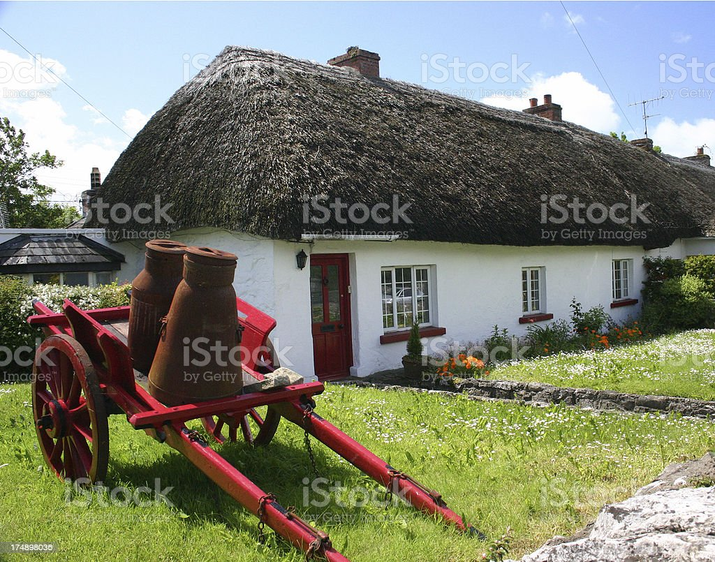 Thatched Cottage in Adare, Ireland royalty-free stock photo