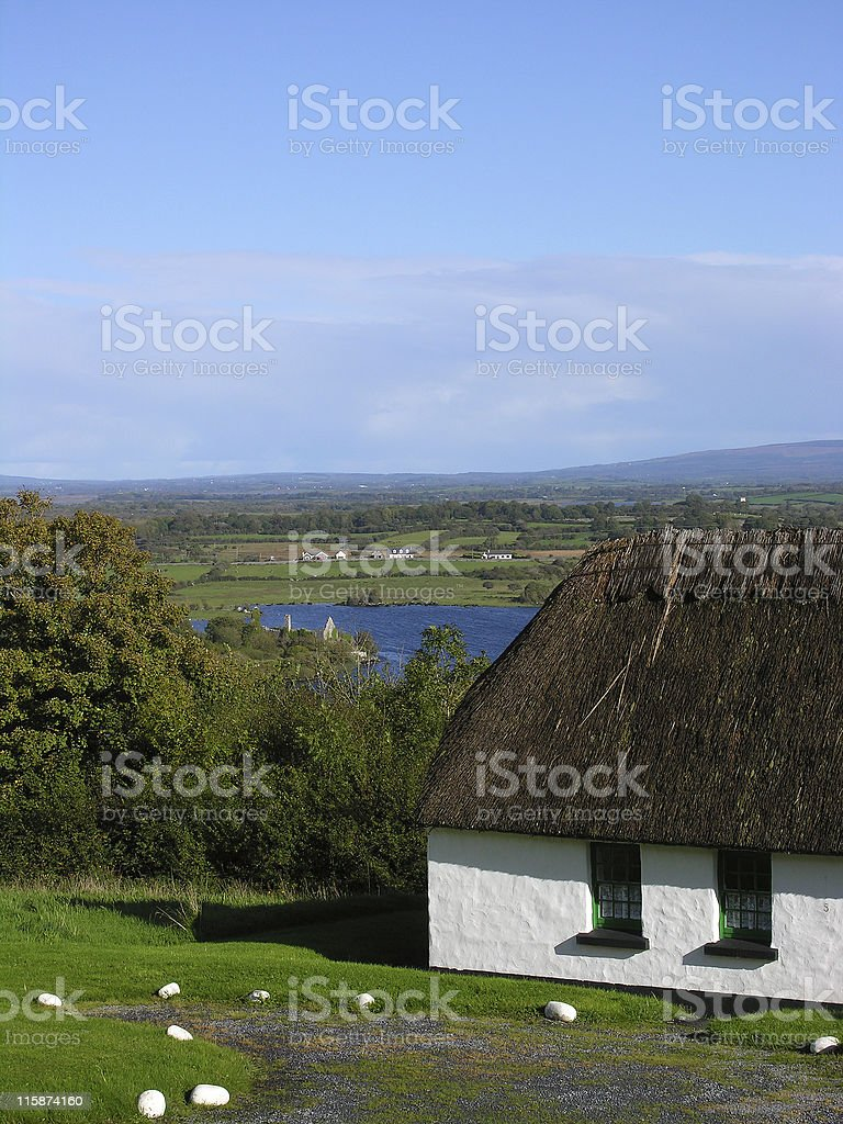 Thatched Cottage in Ireland royalty-free stock photo