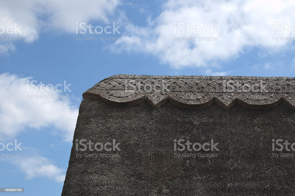 Thatched Cottage Roof stock photo