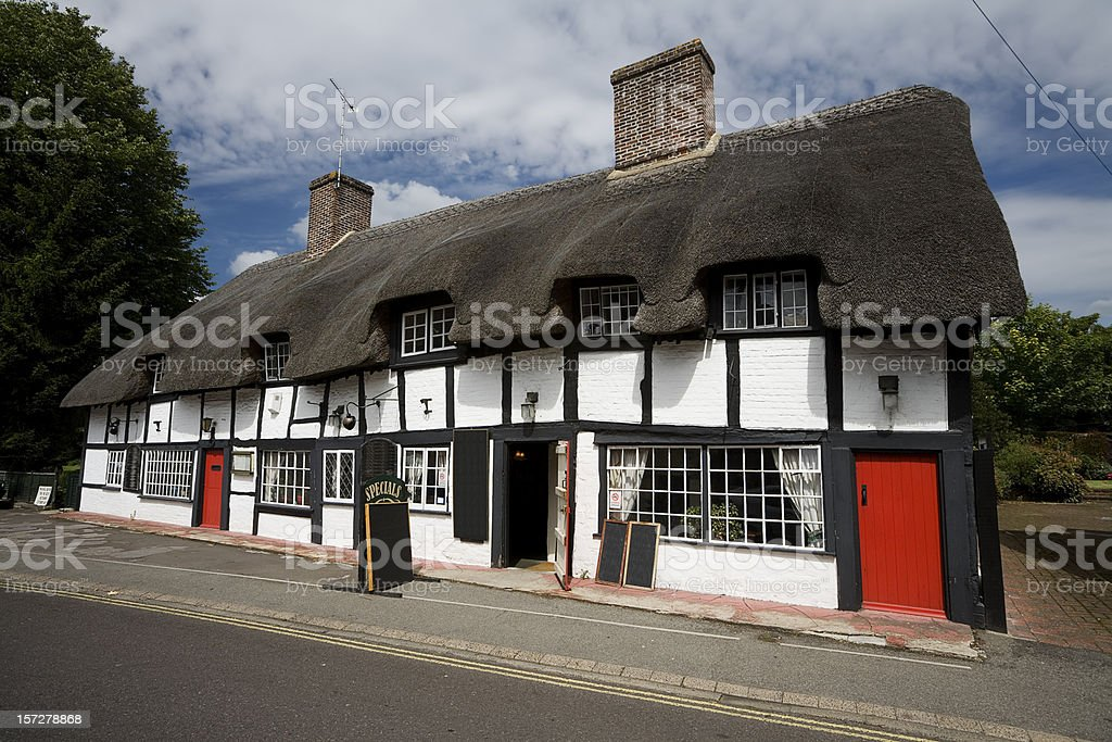 Thatched English Pub stock photo