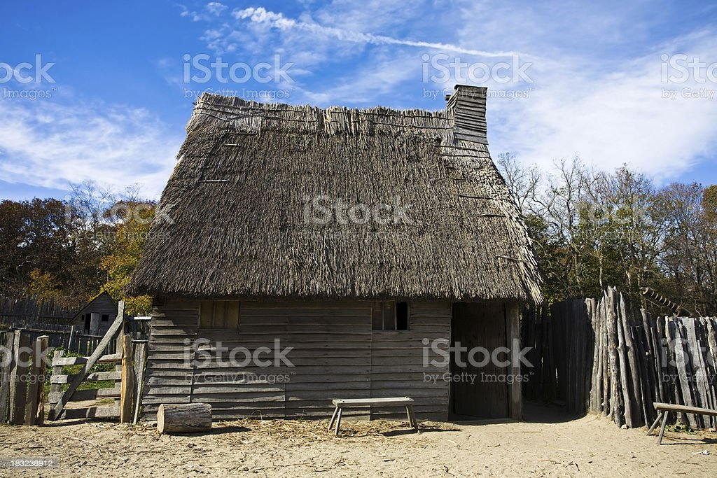 Thatched Roof Home stock photo
