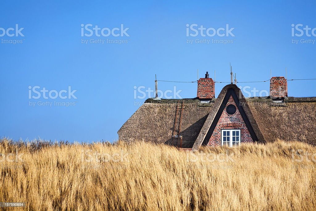 Thatched  Roof ( Reetdach ) stock photo