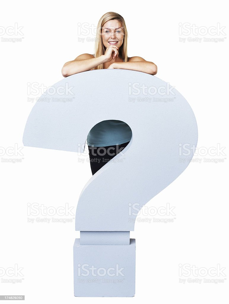 That's a big question! royalty-free stock photo