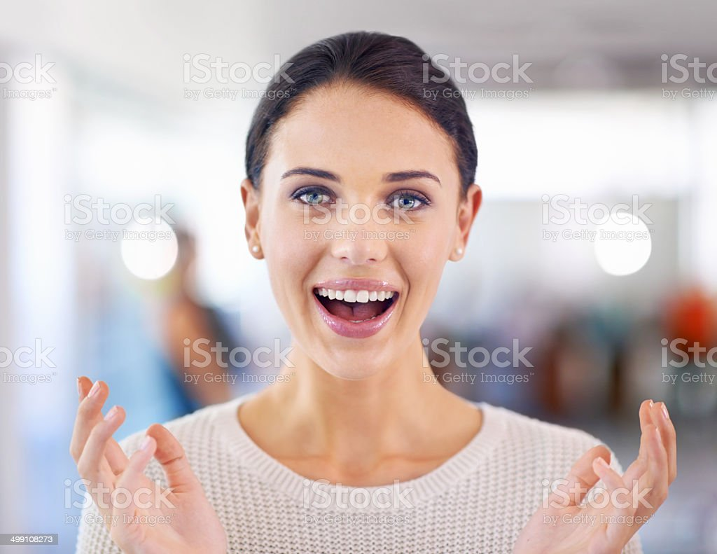 That's great news! stock photo