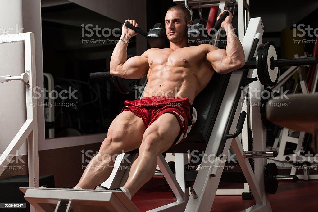 Thats How You Train Legs Calves stock photo