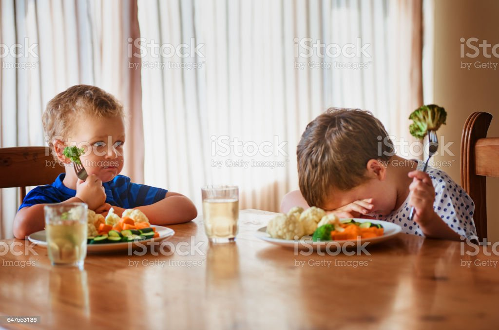 That's it, we're going on a hunger strike stock photo