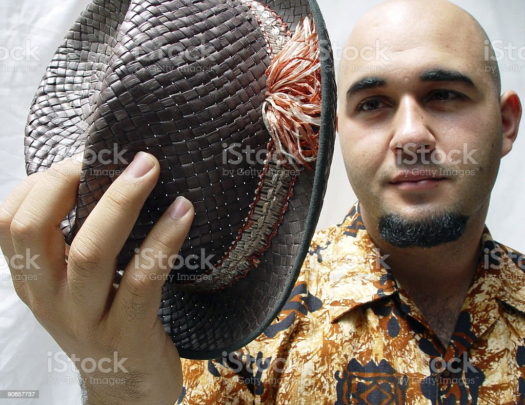 That's my hat! royalty-free stock photo