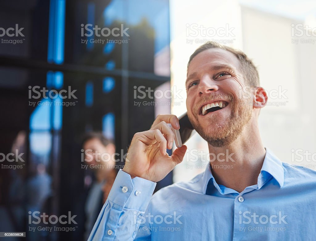 That's the best news I've heard all day! stock photo