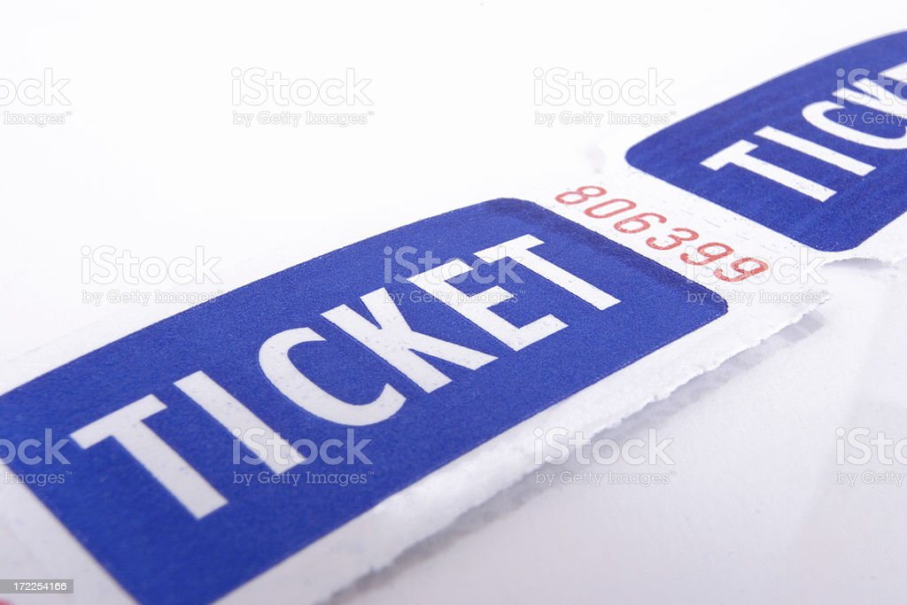 That's the ticket royalty-free stock photo