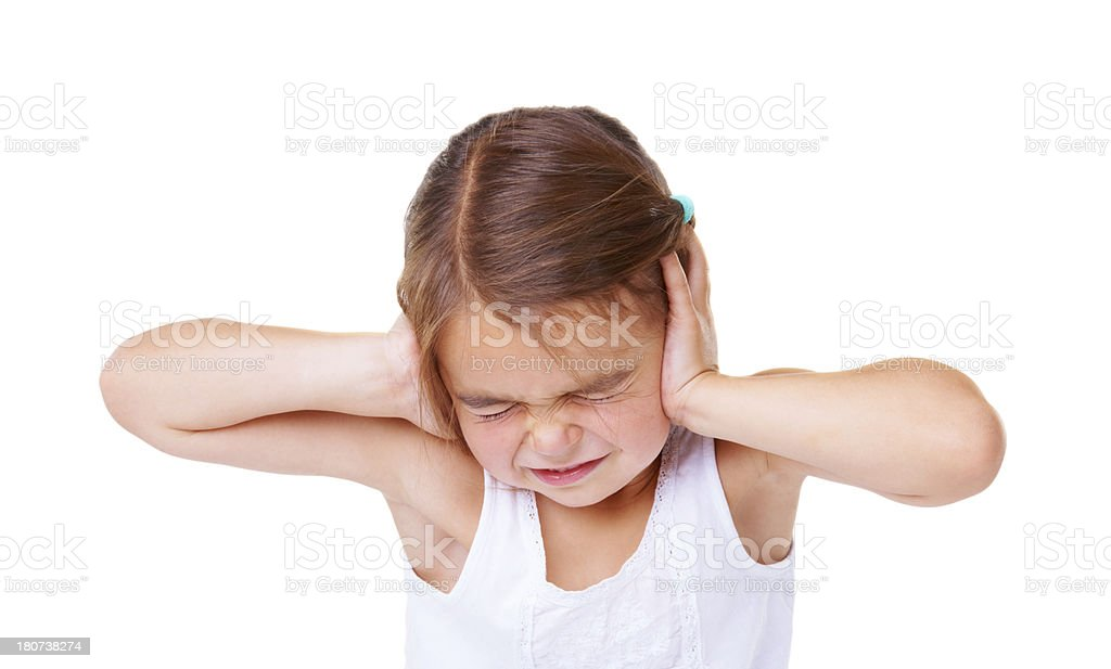 That's too loud! stock photo
