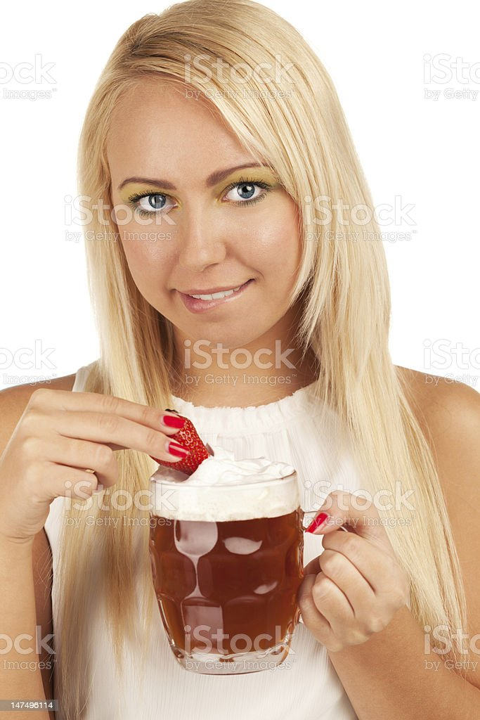 That's why I like beer for royalty-free stock photo