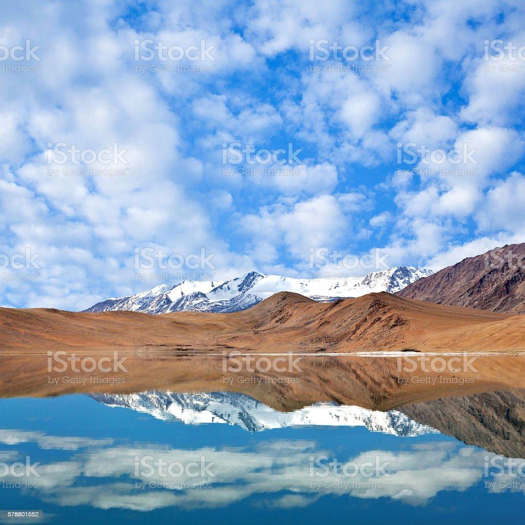 Thatsang Karu lake in Ladakh, Jammu and Kashmir, India stock photo