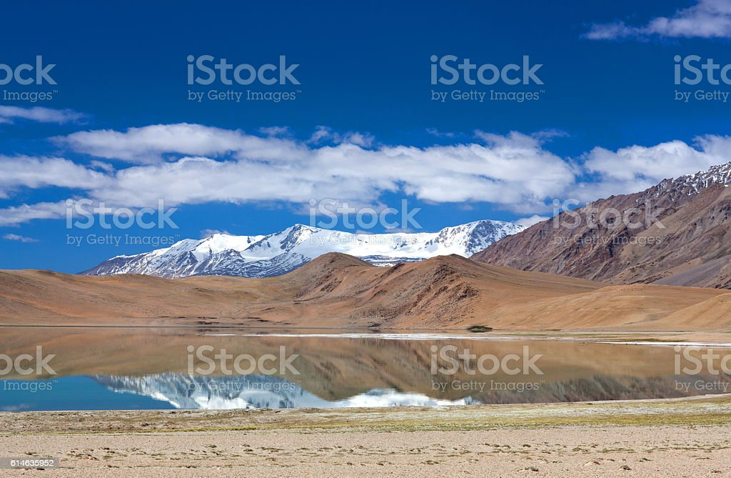 Thatsang Karu lake in Ladakh, Jammu and Kashmir, India stock photo