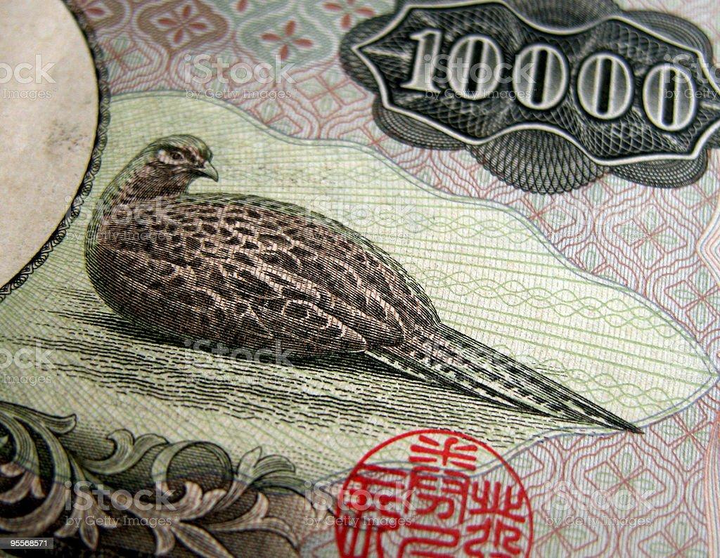 The 10000 yen texture royalty-free stock photo