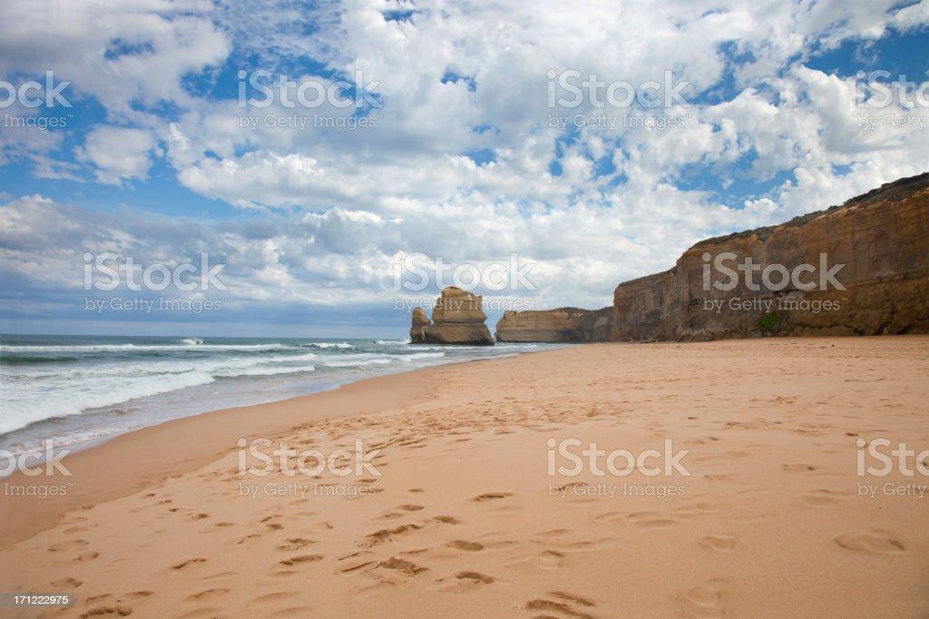 The 12 Apostles Beach, Australia royalty-free stock photo