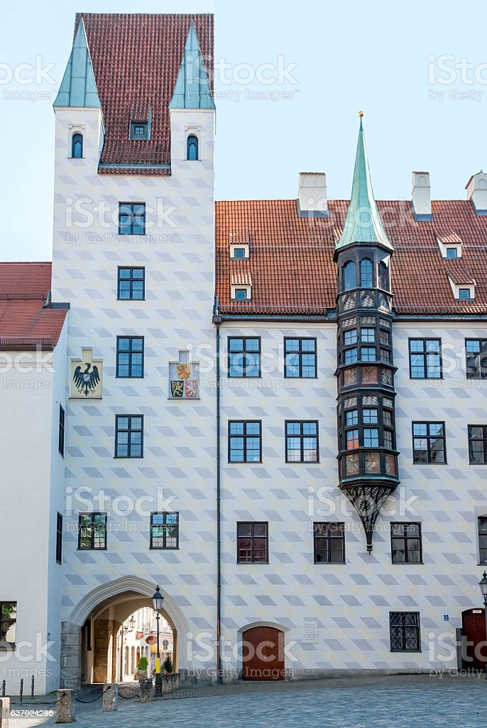 The 12th Century Old Court in Munich, Germany stock photo