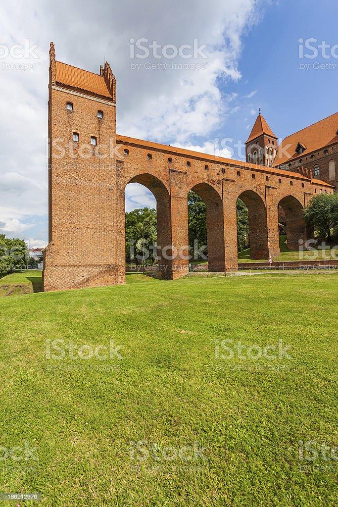The 14th-Century defensive castle stock photo