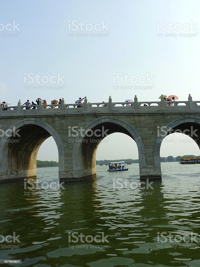 The 17-Arch Bridge_Summer Palace royalty-free stock photo