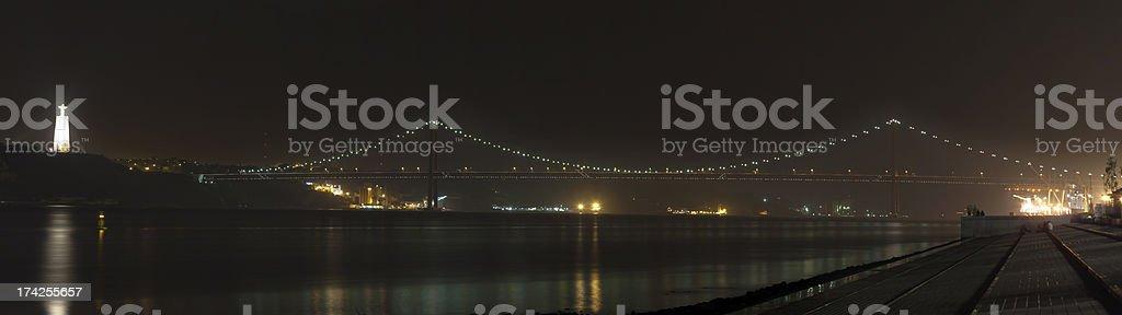 The 25 de Abril Bridge royalty-free stock photo